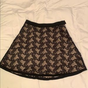 Marc by Marc Jacobs black flowered skirt
